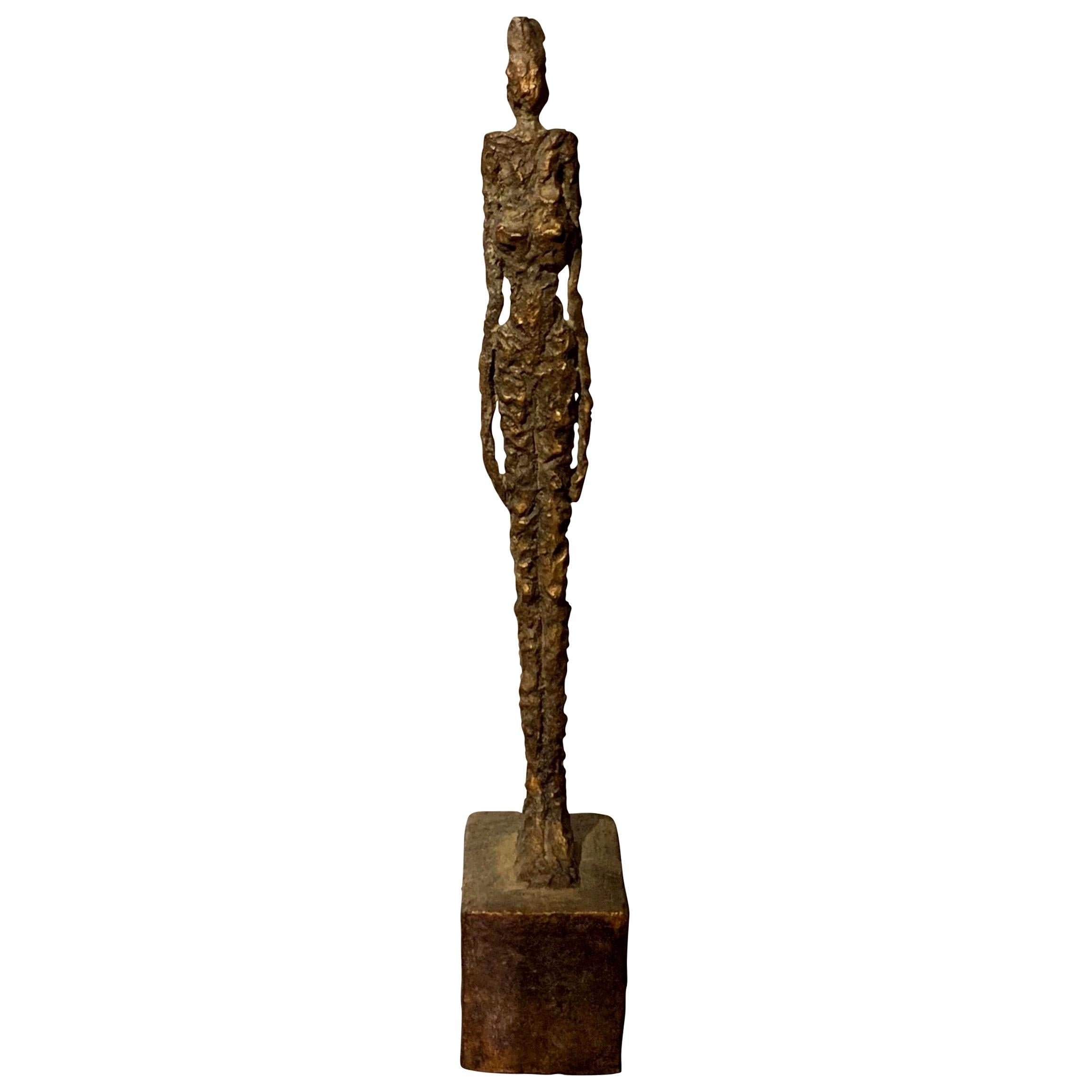Textured Bronze Sculpture Of a Woman, Indonesia, Contemporary