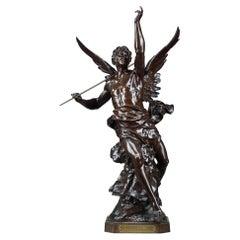 """Bronze Sculpture """"La pensée"""" by Emile-Louis Picault"""
