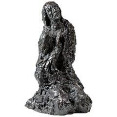 """Bronze Sculpture """"Le Christ Au Mont Des Oliviers"""" by Edmond Moirignot"""