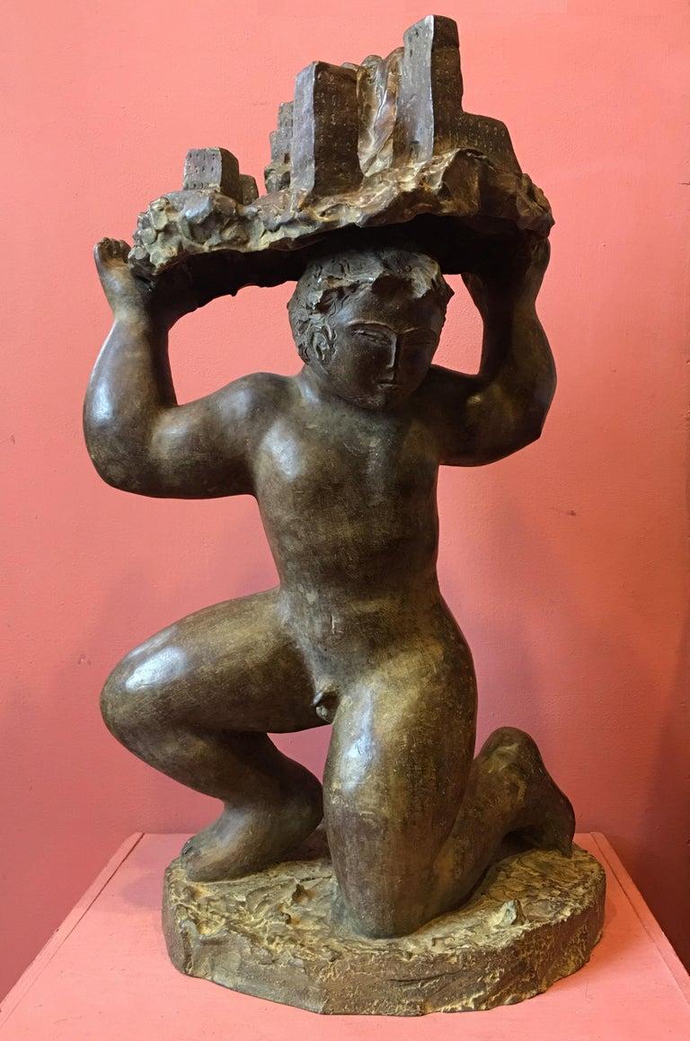 José Seguiri. Born in 1954, Malaga (Spain). Bronze sculpture 3/7, signed.