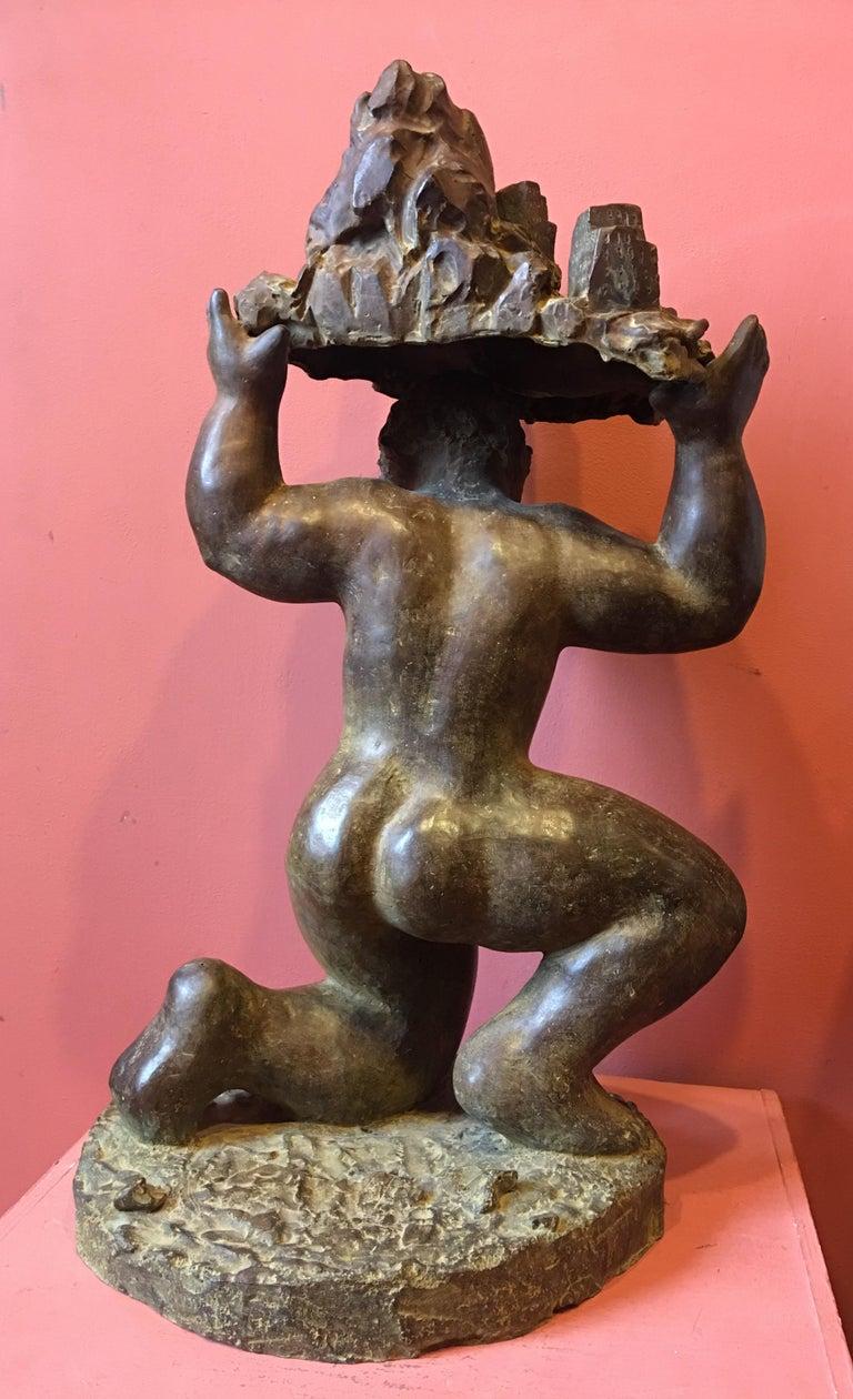 Patinated Bronze Sculpture
