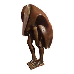 """Bronze sculpture """"Man under a sheet"""" by Fabrice Lebar"""