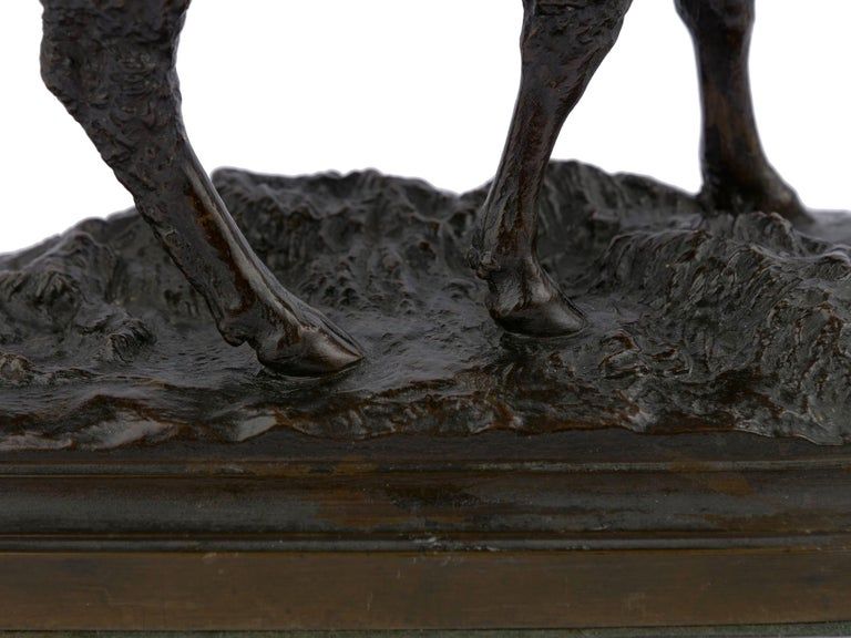 "Bronze Sculpture ""Merino Ewe"" by Isidore Bonheur & Peyrol Foundry For Sale 6"