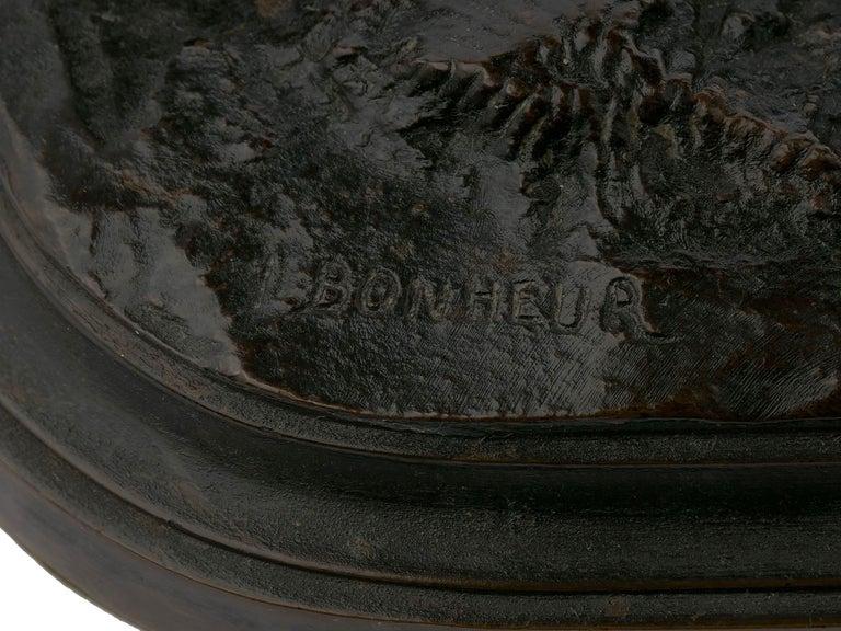 "Bronze Sculpture ""Merino Ewe"" by Isidore Bonheur & Peyrol Foundry For Sale 7"