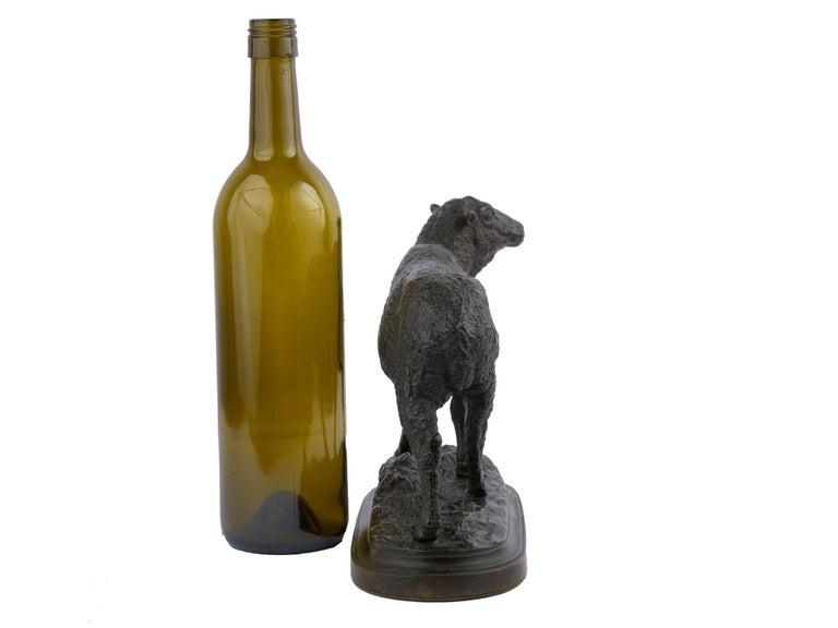 "Bronze Sculpture ""Merino Ewe"" by Isidore Bonheur & Peyrol Foundry For Sale 1"
