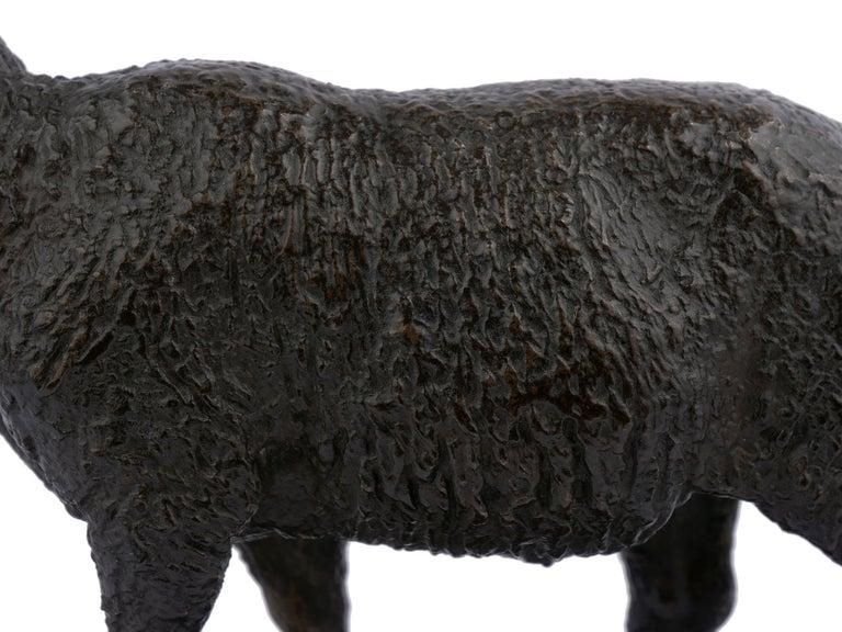 "Bronze Sculpture ""Merino Ewe"" by Isidore Bonheur & Peyrol Foundry For Sale 3"
