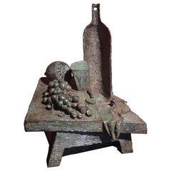 """Bronze Sculpture """"Nature Morte, les Raisins"""" by Alex Berdal"""