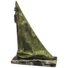 """Bronze Sculpture """"Neptune"""" by Edmond Moirignot"""