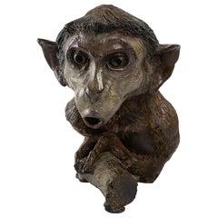 Bronze Sculpture of a Little Monkey