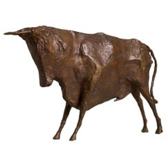 Bronze Sculpture of a Standing Bull by Christian Maas