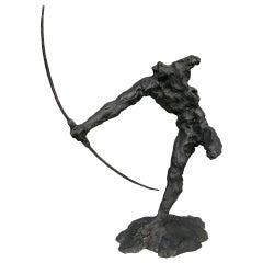 Bronze Sculpture of an Archer by Zoran Males