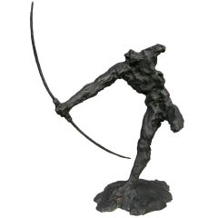 Bronze Sculpture of an Archer by Zoran Males