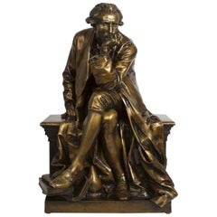 "Bronze Sculpture of ""Antoine Laurent Lavoisier"" by Aime Jules Dalou"