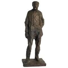 Bronze Sculpture of Anton Worjac by Sculptor Jurcak, 20th Century, Brown Patina