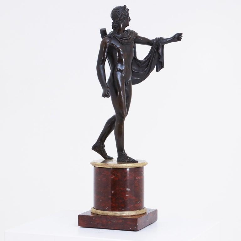 French Bronze Sculpture of Apollo Belvedere, France, circa 1800