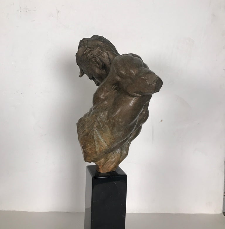 American Bronze Sculpture of Gymnast by Richard MacDonald For Sale