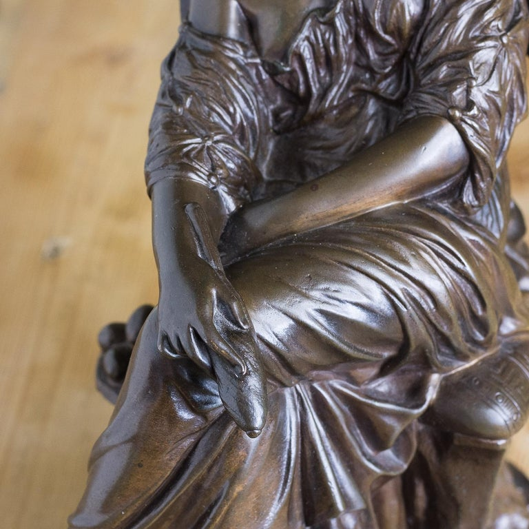 Bronze Sculpture of Penelope, French, 19th Century For Sale 5