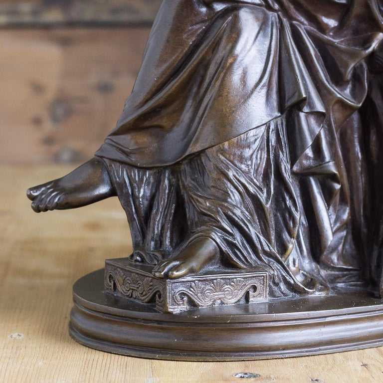 Bronze Sculpture of Penelope, French, 19th Century For Sale 7