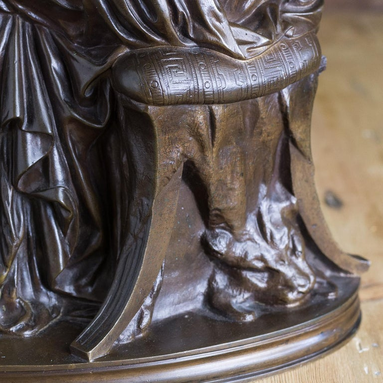 Bronze Sculpture of Penelope, French, 19th Century For Sale 8