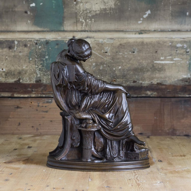 Bronze Sculpture of Penelope, French, 19th Century In Good Condition For Sale In London, GB
