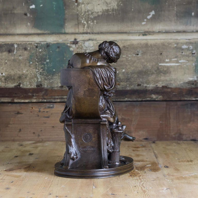 Bronze Sculpture of Penelope, French, 19th Century For Sale 1
