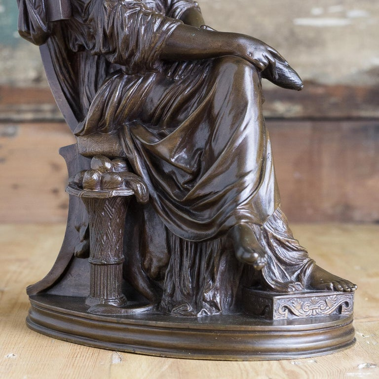 Bronze Sculpture of Penelope, French, 19th Century For Sale 4