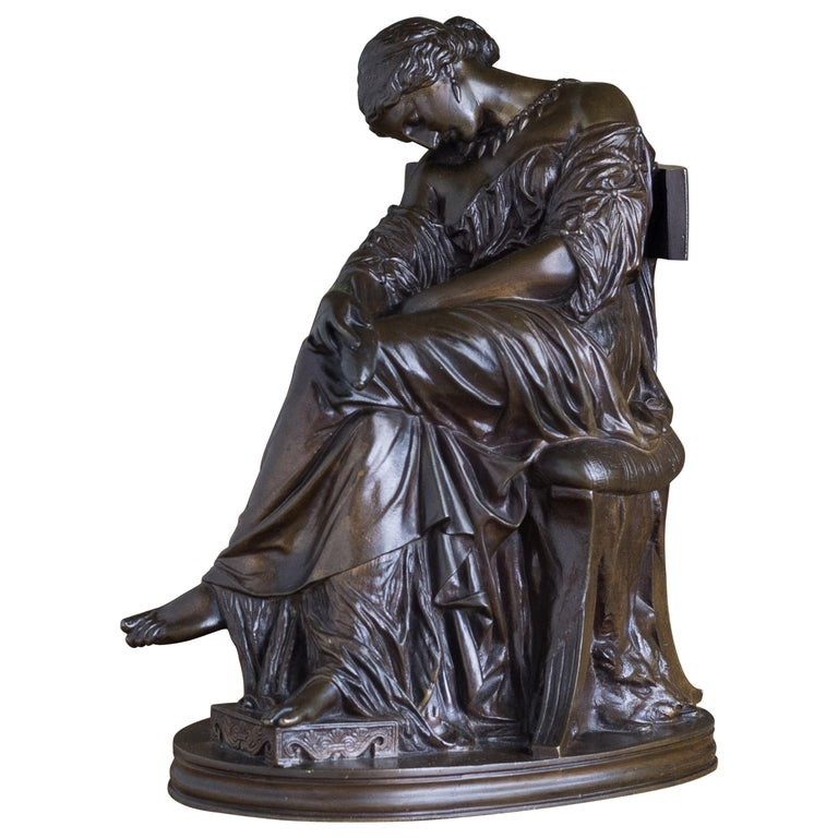 Bronze Sculpture of Penelope, French, 19th Century For Sale