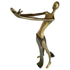 """23"""" Tall Bronze Sculpture of Reclining Nude"""