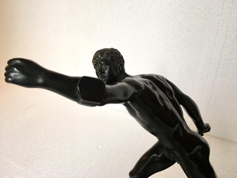 Bronze Sculpture of the Borghese Gladiator For Sale 6