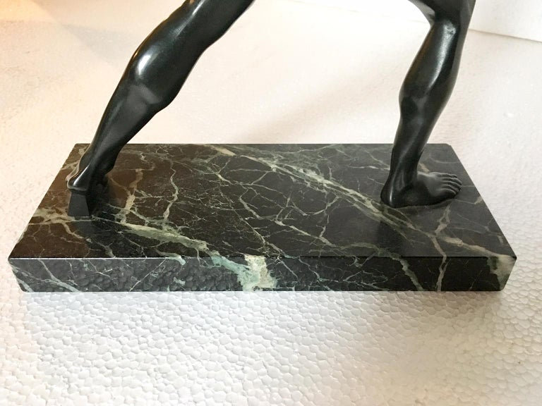 Grand Tour Bronze Sculpture of the Borghese Gladiator For Sale