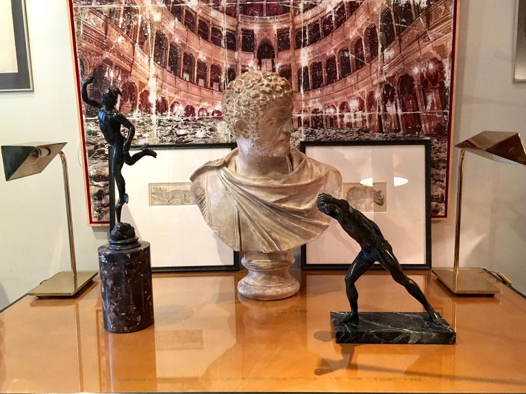 Bronze Sculpture of the Borghese Gladiator For Sale 2