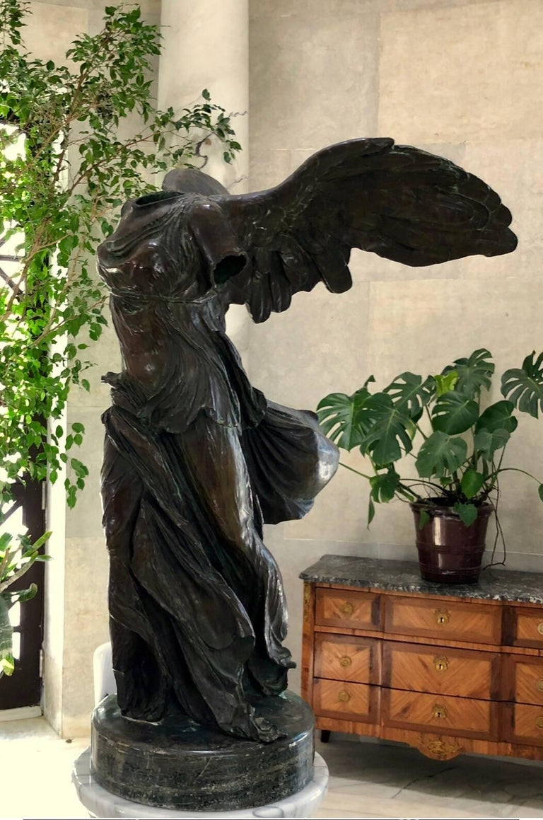 Classical Roman Bronze Sculpture of Victory For Sale