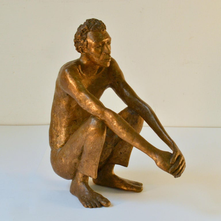 Bronze Sculpture of Waiting Man Dutch, 1986 For Sale 3