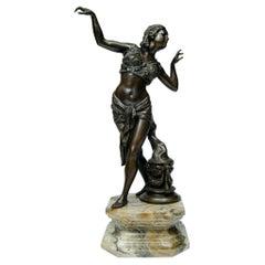 Bronze Sculpture Orientalist Dancer, Artist Fatori