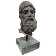"Bronze Sculpture ""Portrait of a Greek Warrior"""