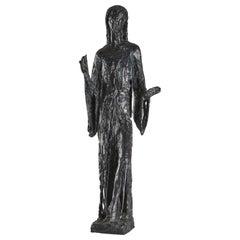 "Bronze Sculpture ""Sacred Dance"", 1965, by Edmond Moirignot"