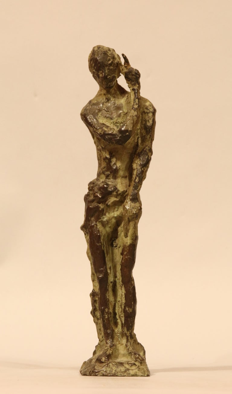 Bronze proof sculpture with brown-green patina. Blanchet-Landowski Foundry, EA.