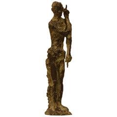 """Bronze Sculpture """"Saint Jean-Baptiste"""" by Ferdinand Parpan"""