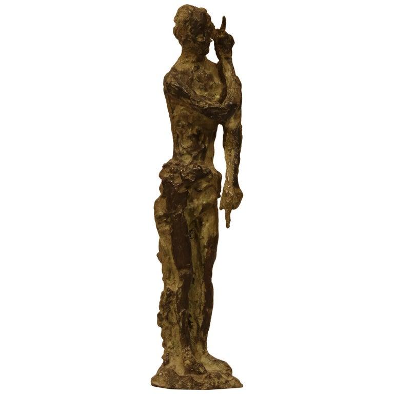 """Bronze Sculpture """"Saint Jean-Baptiste"""" by Ferdinand Parpan For Sale"""