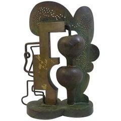 Bronze Sculpture Signed by César Bailleux, Belgium, 1974