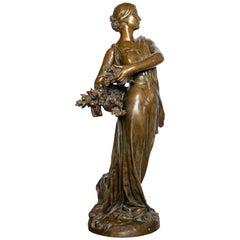 Bronze Sculpture Signed H. Gauquie, France, Late 19th Century