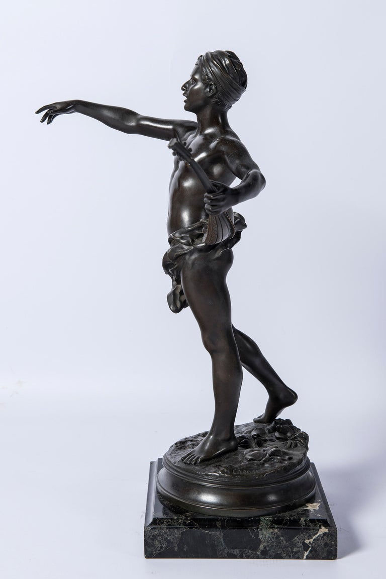 Islamic Bronze Sculpture, Signed Laouse, France, circa 1900 For Sale