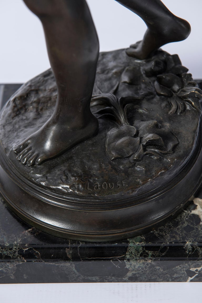 Bronze Sculpture, Signed Laouse, France, circa 1900 In Good Condition For Sale In Buenos Aires, Buenos Aires