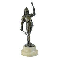 Bronze Sculpture Soldier in Armor