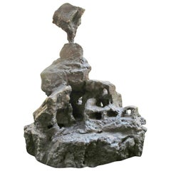 """Bronze sculpture """"Sortie de chaos à l'oiseau"""" 2006, by Catherine Val"""