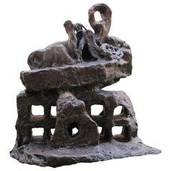 """Bronze Sculpture """"Sortie De Chaos Aux Mots Éclatés"""" 2005, by Catherine Val"""