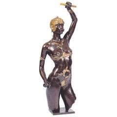 """Bronze Sculpture """"The Amazon"""" by Jacques Le Nantec"""