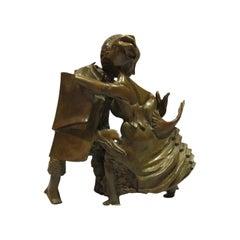"""Bronze Sculpture """"The Dancers"""" 1986, by Bernard Vié"""