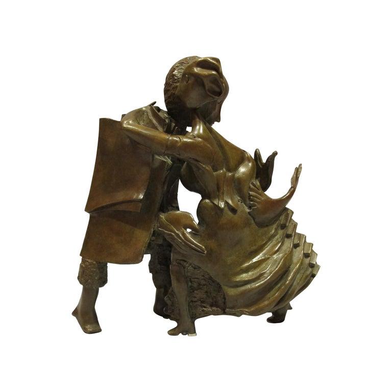 """Bronze Sculpture """"The Dancers"""" 1986, by Bernard Vié For Sale"""