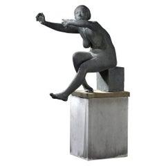 """Bronze Sculpture """"The Unique Moment"""", 1969 by Nat Neujean"""